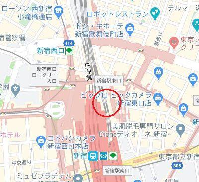 銀座カラー 新宿店 アクセス 行き方